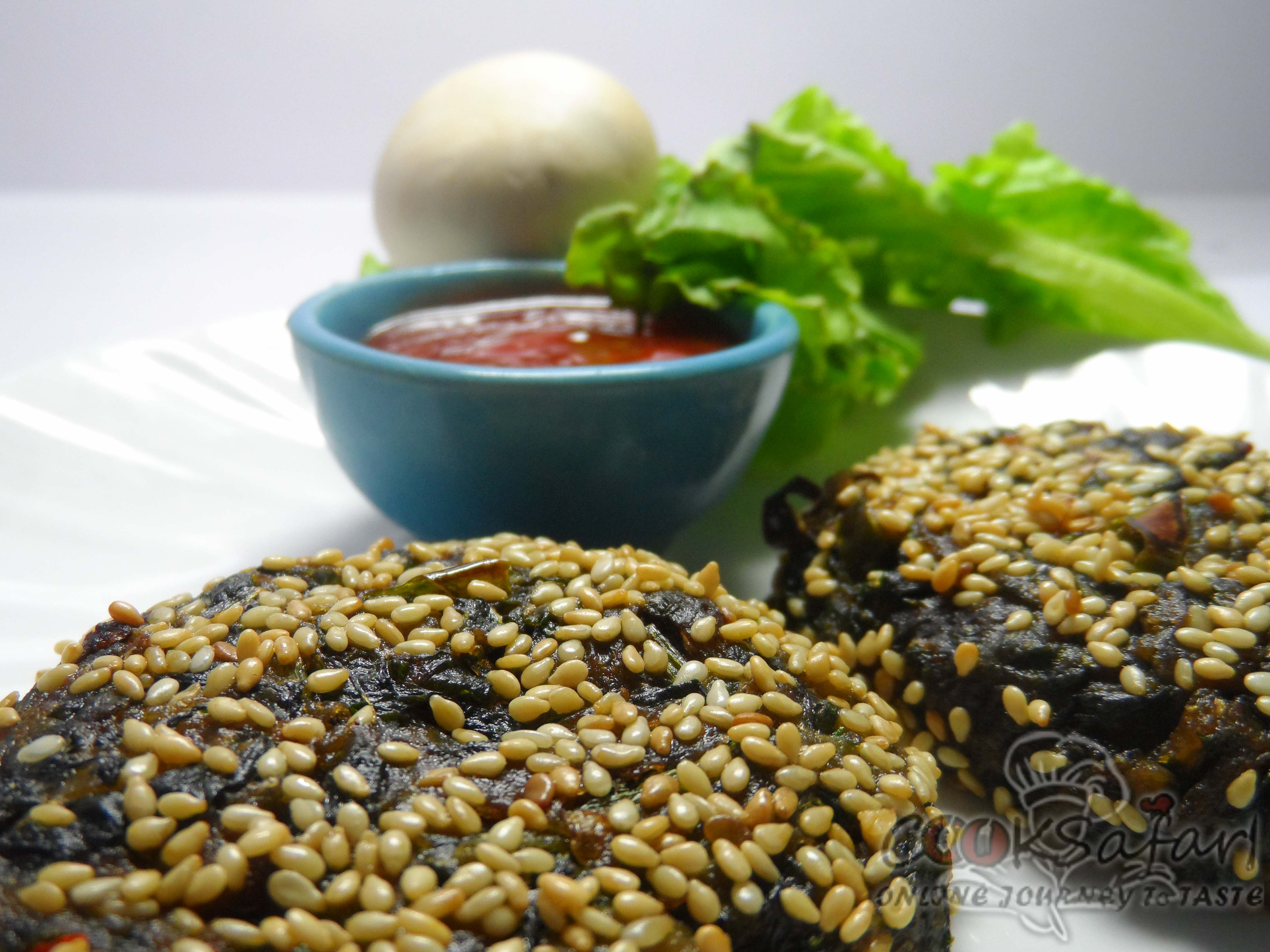 Baked Spinach and Sesame Patties Recipe