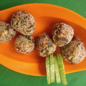 capsicum and onion balls recipe