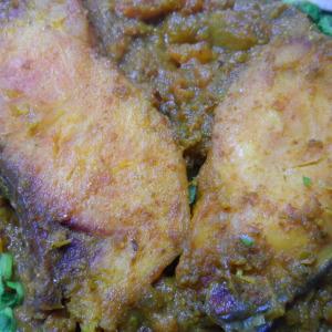 coriander tomato fish