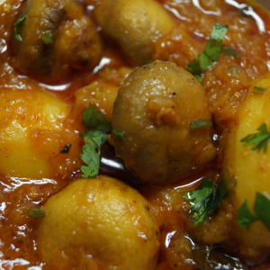 Curried Mushroom and Potatoes Recipe