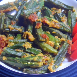 low calorie bhindi photo