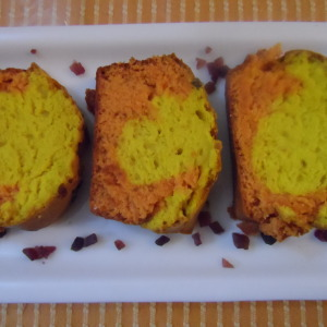 Lemon Orange Marble Cake Recipe