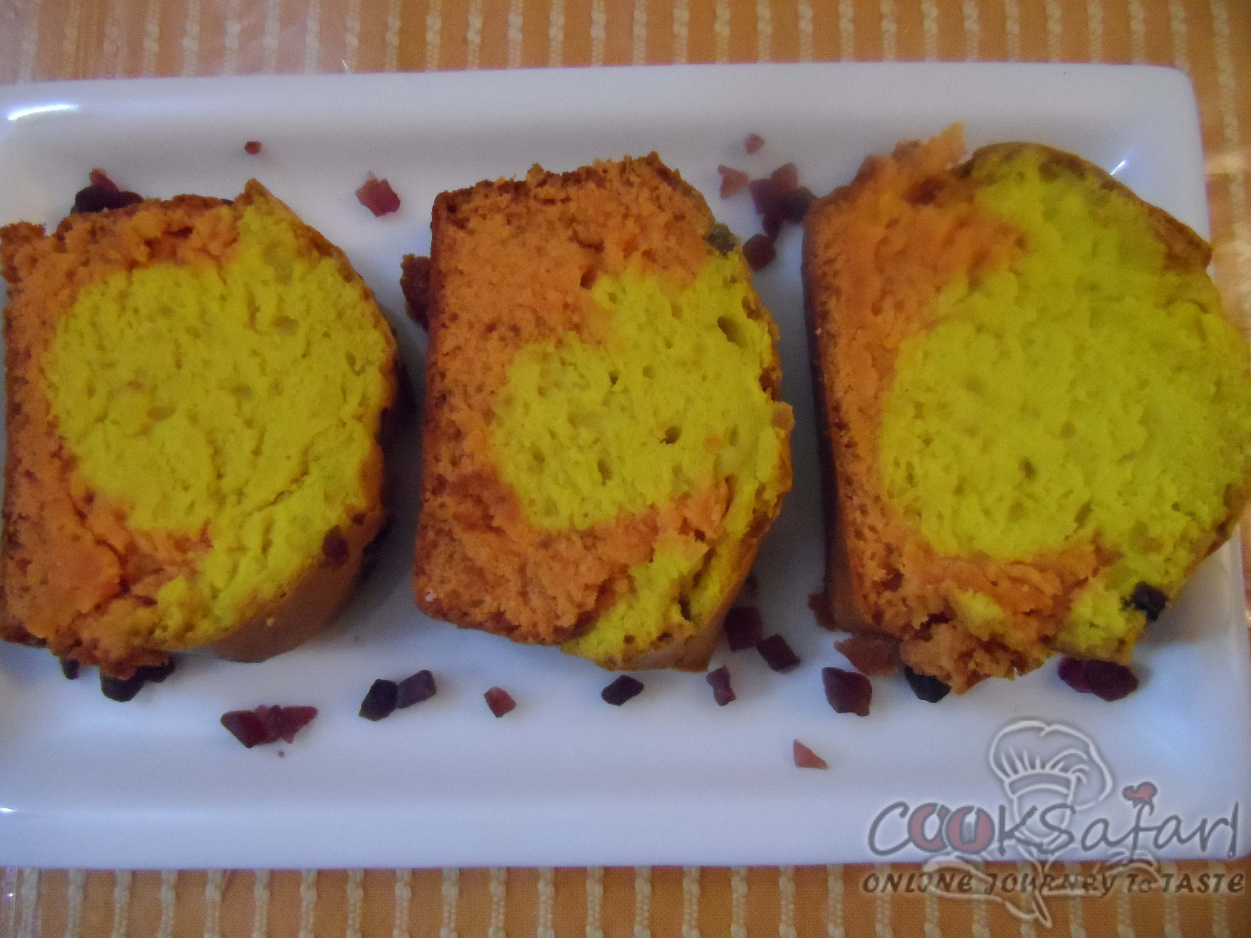 Lemon Orange Marble Cake Recipe