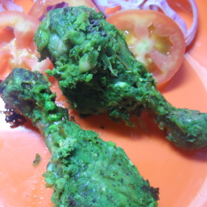 tandoori hot and green chicken photo