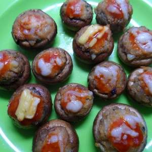 Nutrela Soya Stuffed Cheesy Mushroom Recipe